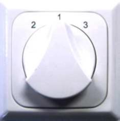Dreistufenschalter für Wohnraumlüftungsgeräte