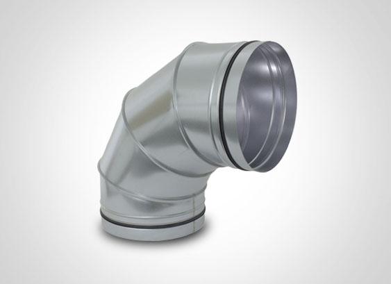 Zuluft Lüftungsrohr Bogen 30° NW 400mm Wickelfalz Abluft
