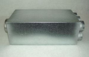 Luftverteiler mit Schalldämpfer 150/ 8x75